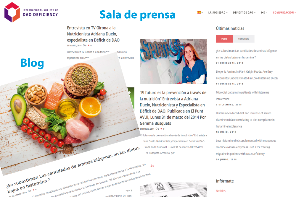 the International Society of DAO Deficiency estrena nueva web Sala de prensa y Blog