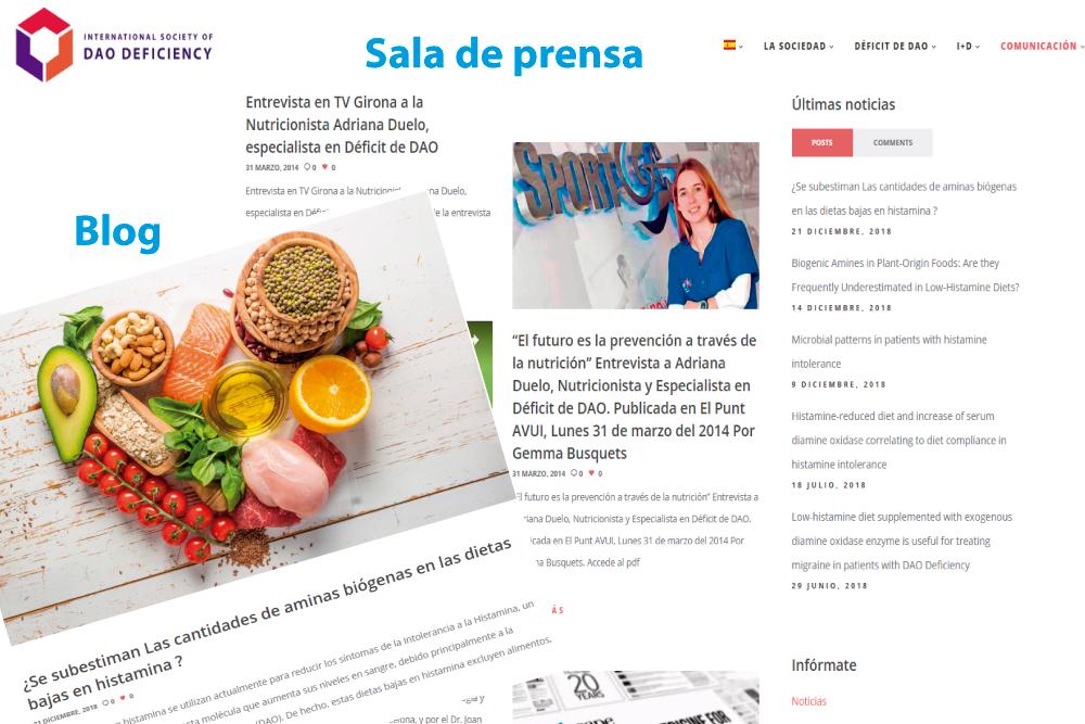 the International Society of DAO Deficiency estrena nueva web Sala de prensa y Blog