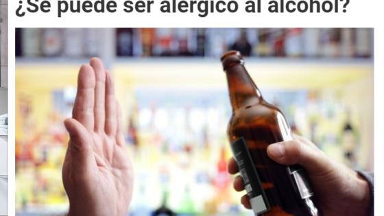 histaminosis no alérgica causada por déficit de DAO al consumir alcohol, alérgia al alcohol